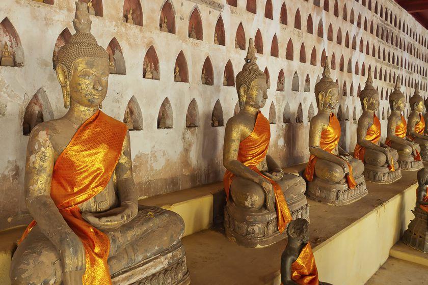Buddhist temple, Vientiane, Laos