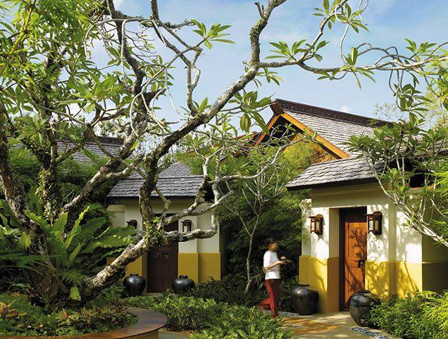 Outside the villa, Rasa Sayang