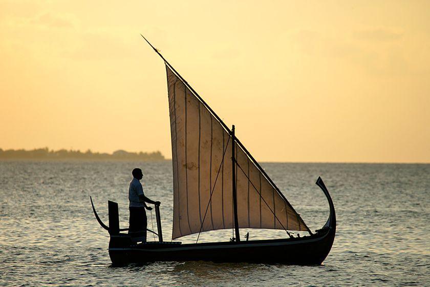 Dhoni at sunset - Coco Palm Dhuni Kholhu, Maldives