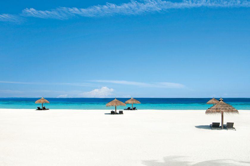 Beach at Constance Moofushi, Maldives