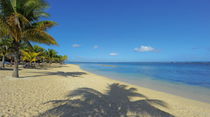 Beach at Le Victoria, Mauritius