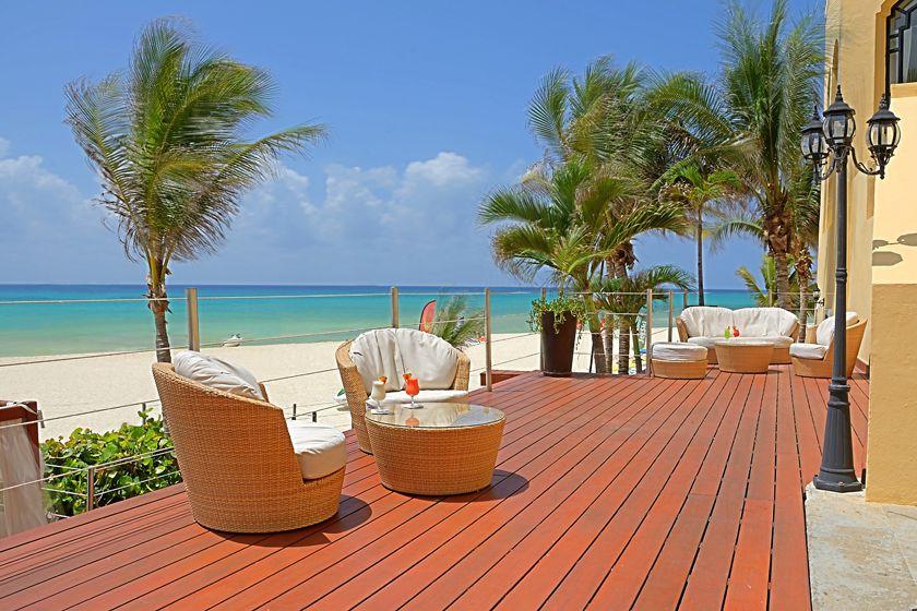 Beach lounge at Royal Hideaway Playacar Resort