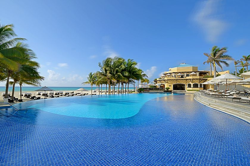 Main pool at Royal Hideaway Playacar Resort