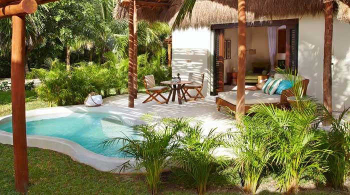 Ocean view villa at Viceroy Riviera Maya, Mexico