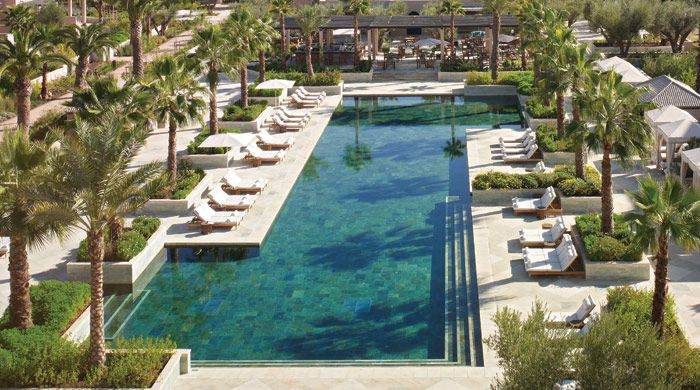 Main pool, Four Seasons Marrakech, Morocco
