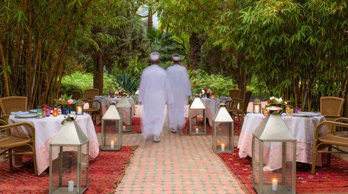 Dining, La Gazelle D'Or, Morocco