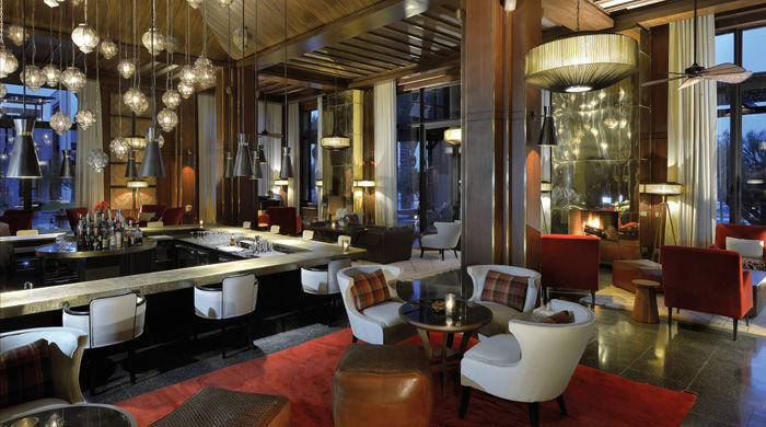 The bar at Royal Palm Marrakech, Morocco