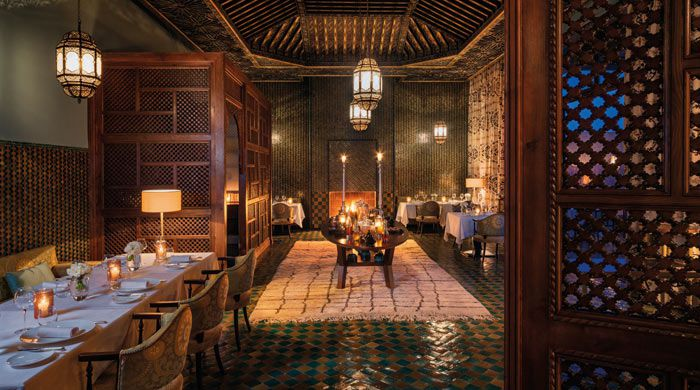 Dining at Royal Palm Marrakech, Morocco