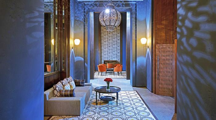 Sleek interiors at Royal Palm Marrakech, Morocco