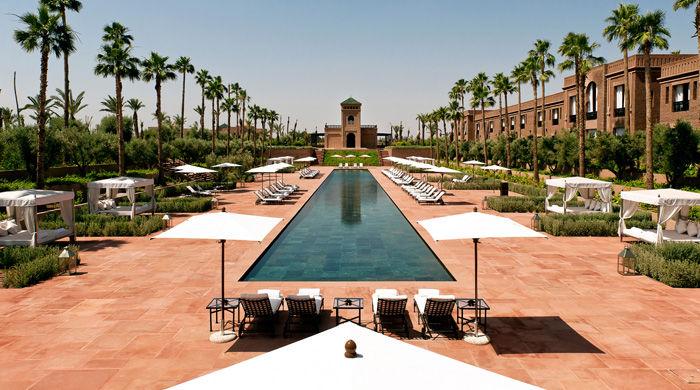 The main pool the Selman Marrakech, Morocco