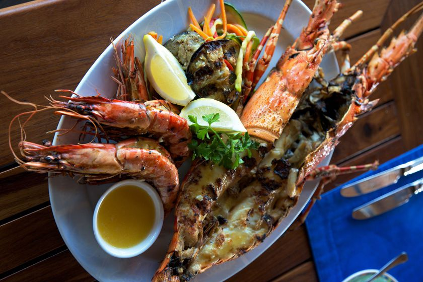 Fresh seafood at Medjumbe Private Island