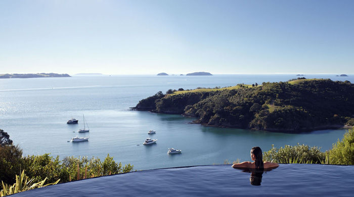 Pool at Delamore Lodge, Waiheke Island, New Zealand