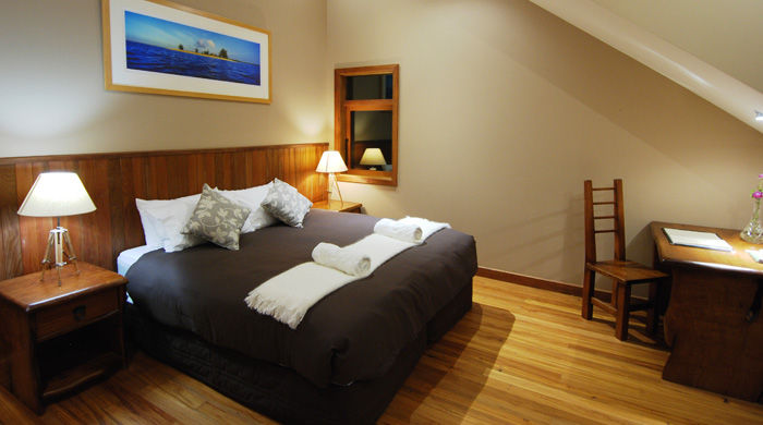 Bedroom at Stonefly Lodge, New Zealand