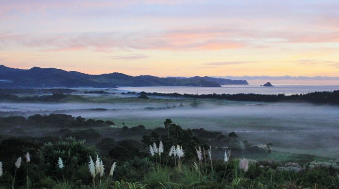 Sunrise over Great Barrier Island, New Zealand