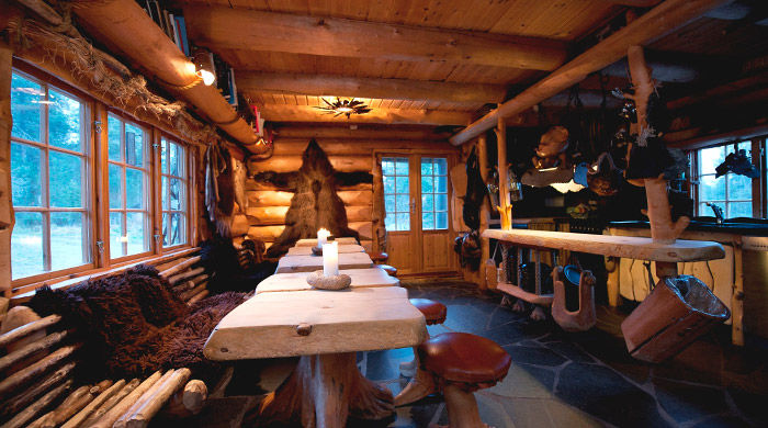 Dining room, Engholm Husky Lodge, Norway