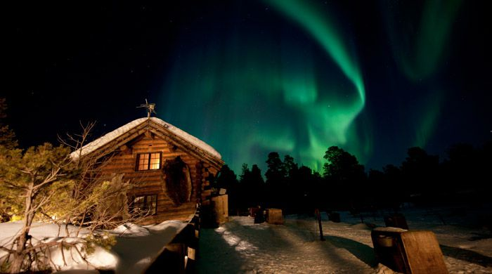 Northern Lights, Engholm Husky Lodge, Norway