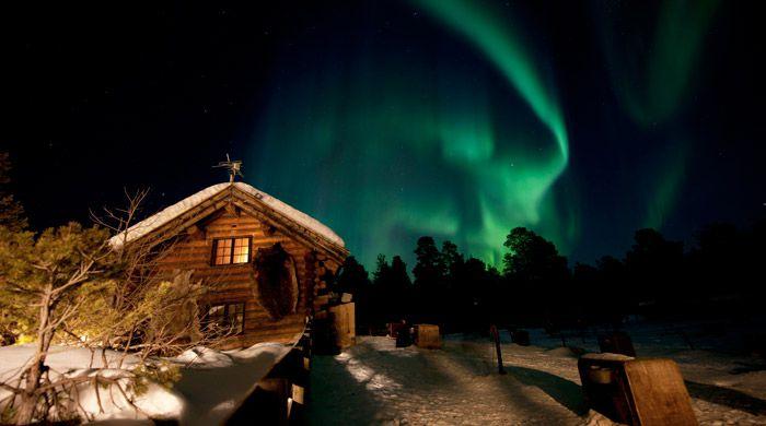 Northern Lights, Engholm Husky Lodge, Norway