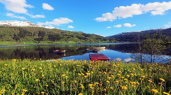 Oppheimsvatnet Lake, Voss, Norway