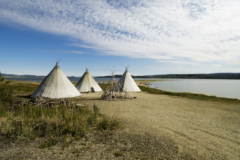 Sami tents near Kirkenes