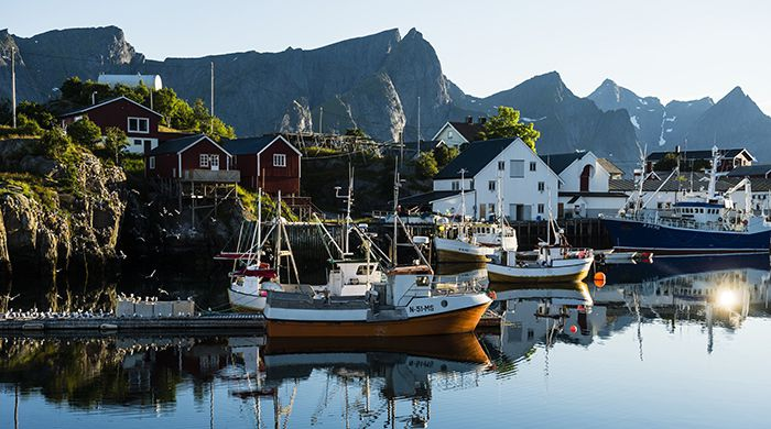 Fishing boats, Reine, Lofoten, Fredriksson Photography