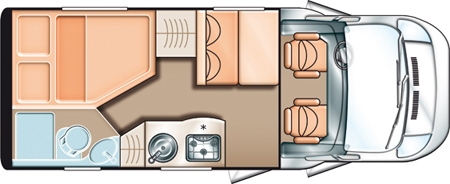 Small motorhome layout