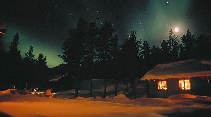 Northern Lights at Ongajok Mountain Resort, Alta, Norway