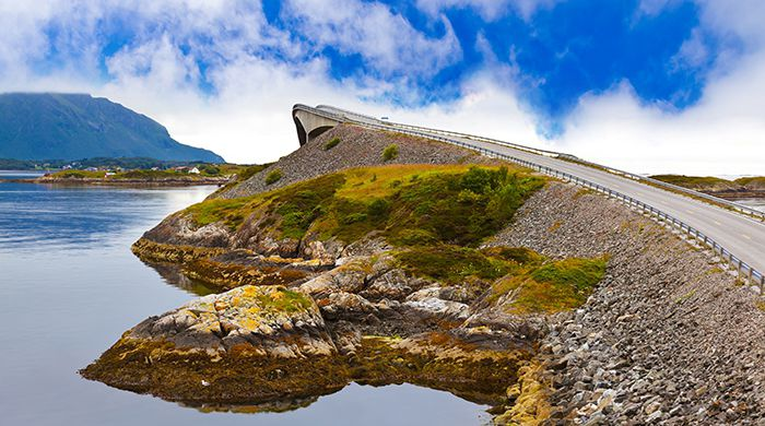 Fjord Bridge Atlantic Road, Norway