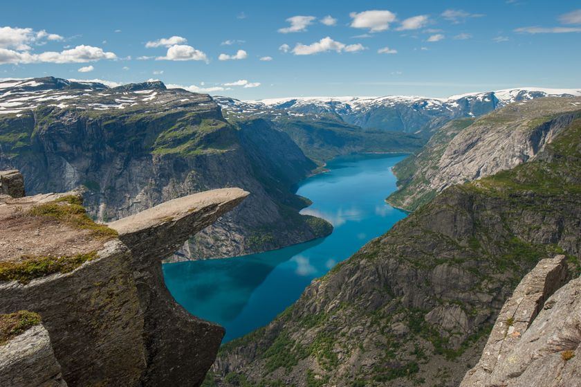 Troll's Tongue,  Hardangerfjord