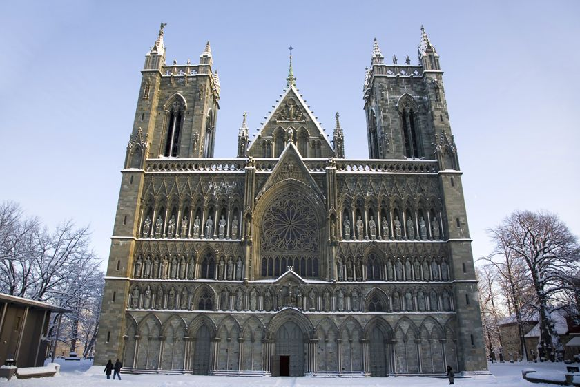 Cathedral in Trondheim, Norway