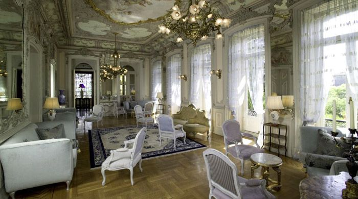 Lounge, Pestana Palace, Lisbon, Portugal