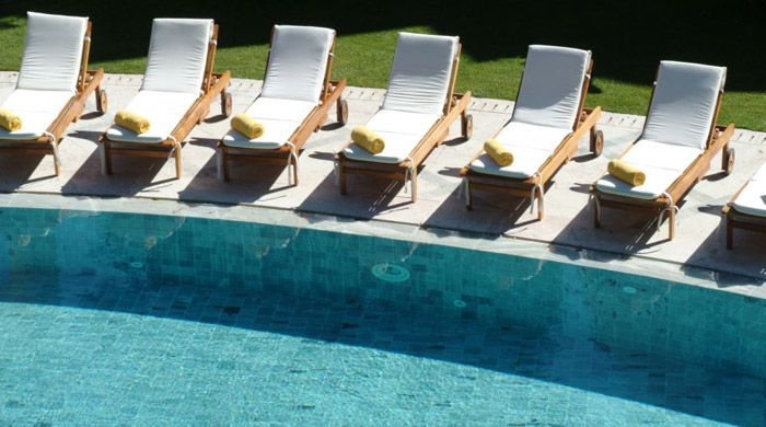 Outdoor pool, Pestana Palace, Lisbon, Portugal