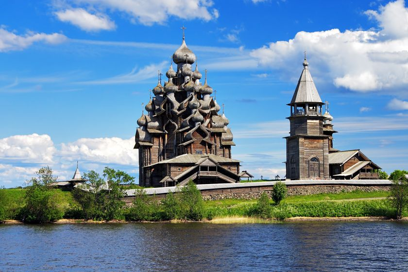 Wooden churches on Kizhi Island, Russia