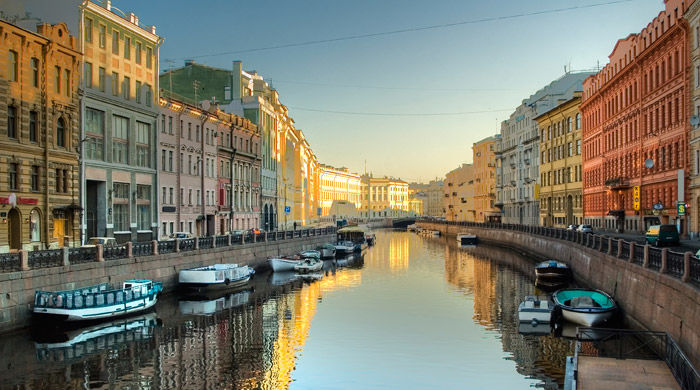 Moyka River, St Petersburg, Russia