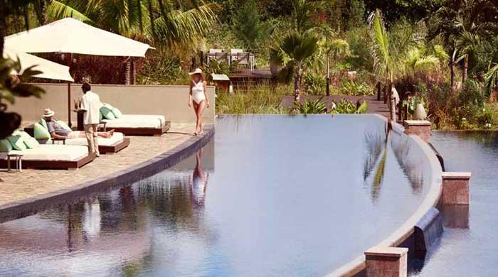 Pool at Raffles Praslin, Seychelles