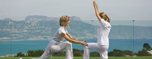 Yoga exercises, SHA Wellness Clinic, Alicante, Spain