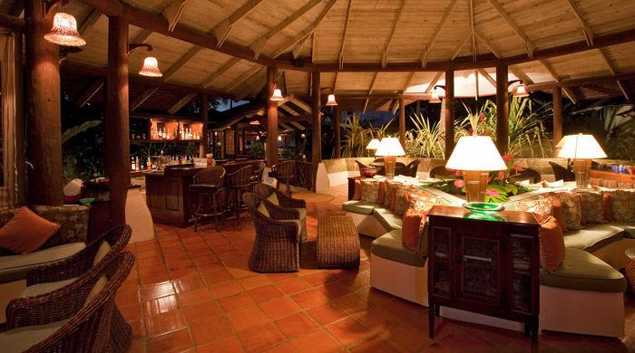 Bar lounge, East Winds Inn, St Lucia