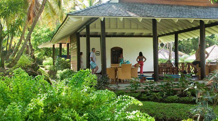 Yoga class, East Winds Inn, St Lucia