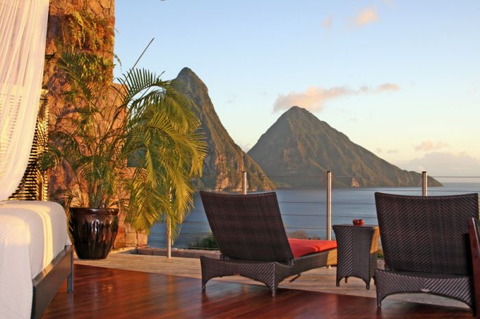 Jade Mountain sun loungers