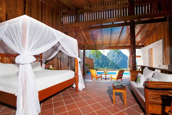Room at Ladera, St Lucia
