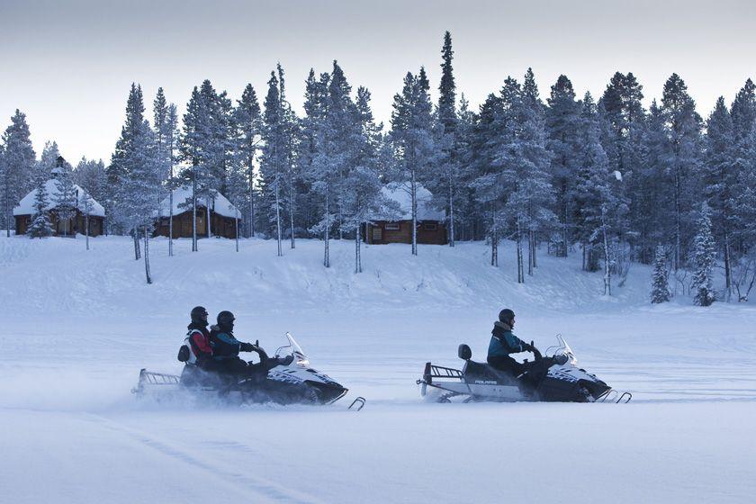 Snowmobiles, Ice Hotel