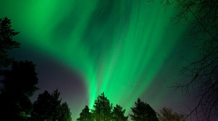Northern Lights, Brandon Lodge, Swedish Lapland