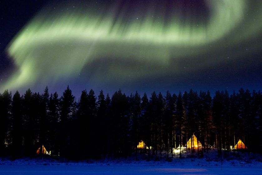 Northern Lights at Aurora Safari Camp, Sweden