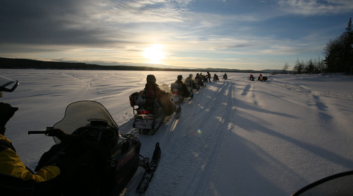 Snowmobiling, Sorbyn Lodge, Sweden