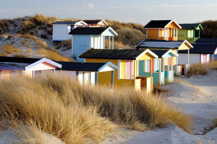 Beach huts near Ystad, Sweden