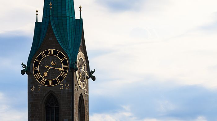The Clock of St Peter's Church, Zurich