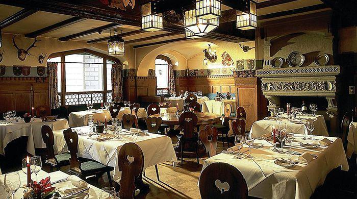 Restaurant, Romatik Hotel Wilden Mann, Lucerne