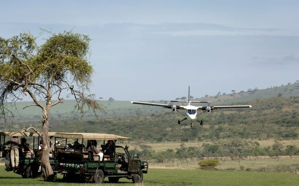 Klein's Camp airstrip, Serengeti National Park