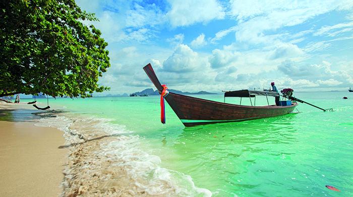 Long-tailed boat, near Koh Muk