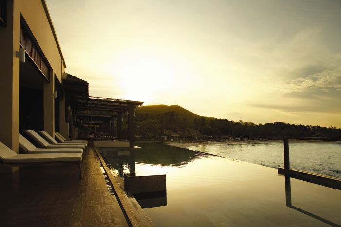 The Sarann at sunset