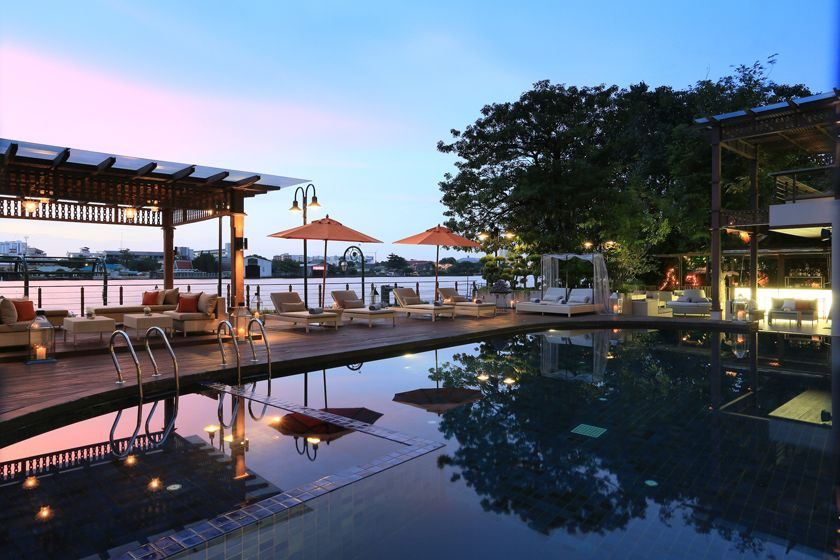 Swimming pool at Riva Surya, Bangkok, Thailand